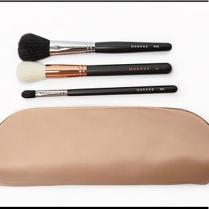 NEW Set of 3 Morphe brushes with a makeup bag